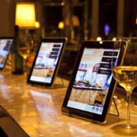 website pictures restaurant ipads